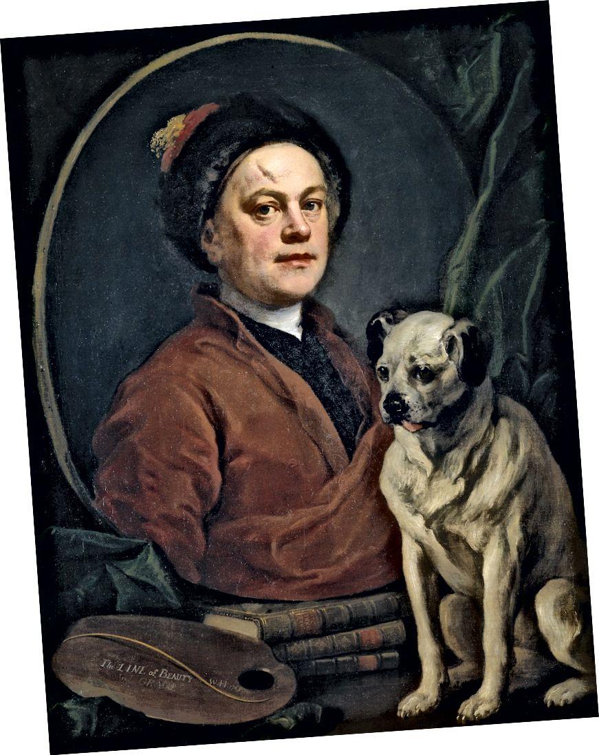 ويليام هوغارث ، الرسام وكلبه ، 1745 | © Tate