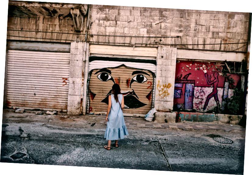 Jordánske pouličné umenie Downtown Amman