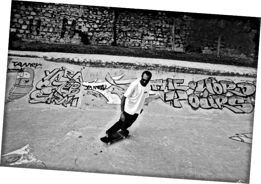 Zakaria, spoluzakladateľ 7Hills, korčuľovanie | L'weibdeh, Amman