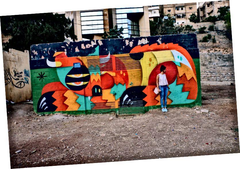 Renomovaní graffiti umelci zoonchezi maľovaní v parku 7Hill Skatepark, L'weibdeh
