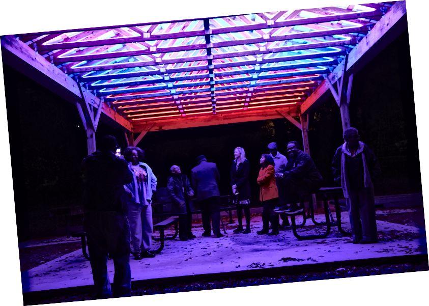 """Spartanburg, SC, používal veřejné umění jako formu občanské angažovanosti v instalacích, které tvořily """"Vidění Spartanburgu v novém světle""""."""