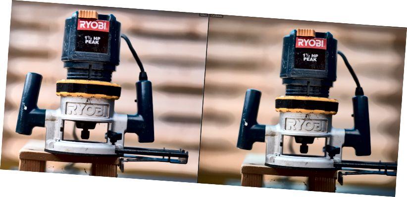 XT2- ը ձախ կողմում, աջ Nikon D810- ը