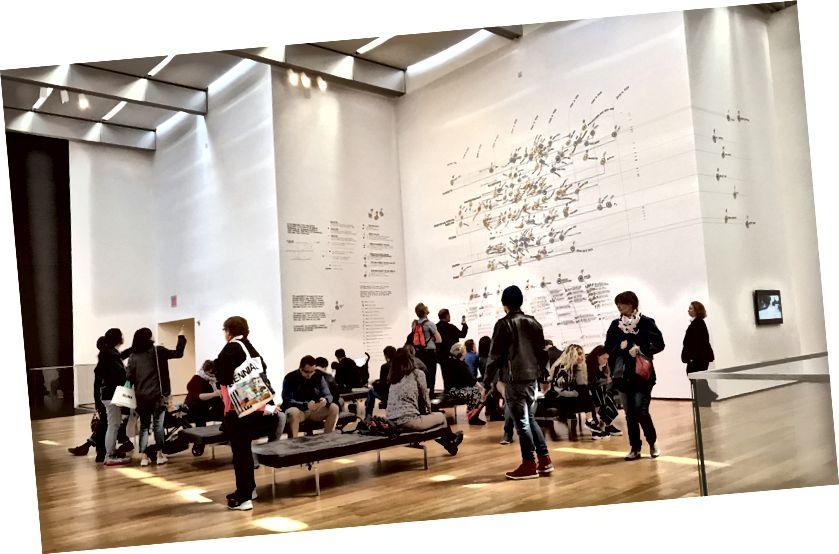 (Giorgia Lupi - իտալացի, ծն. 1981 / Accurat - Իտալիա, հիմնադրվել է 2011. Տվյալների ITEMS. A Fashion Landscape 2017 - Հանձնարարվել է իրերի համար. Արդյո՞ք նորաձևությունն արդի՞ր է: Այս նախագիծը հնարավոր է դարձել Գլազգոյ Կալեդոնյան Նյու Յորքի քոլեջի արդար նորաձևության կենտրոնի կողմից):