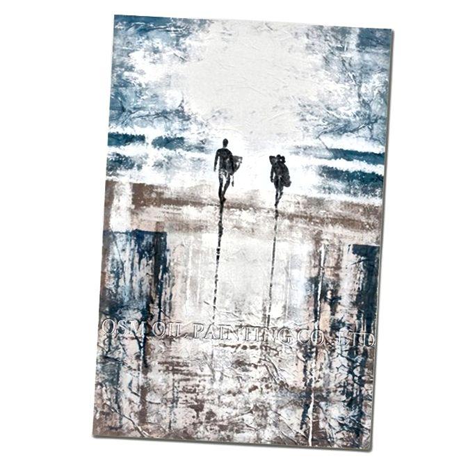 Gemälde zum Verkauf verfügbar unter https://firstpieceart.com/products/abstract-beach-surfing-oil-painting-on-canvas
