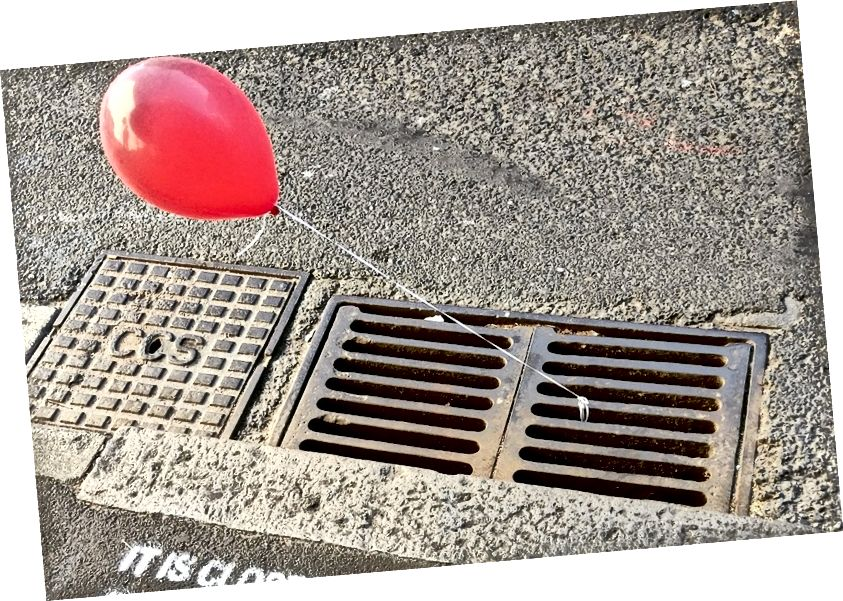 Es Guerilla Marketing-Iconic Red Balloon in Sydney, Australien