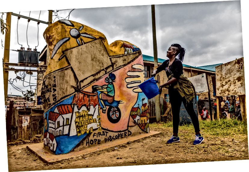 Kiberadakı MSF-nin 20 ilini ziyarət etmək və cəmiyyətə təşəkkür etmək üçün MSF Kibera ətrafında