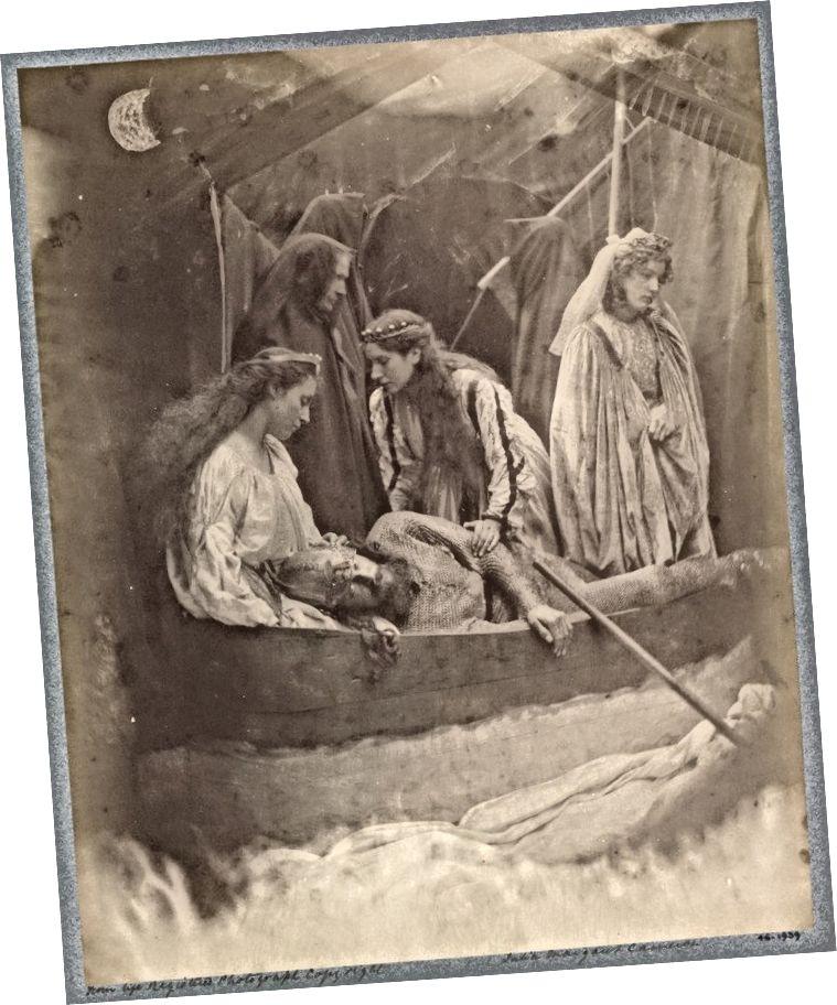 «Уход Артута» (1875) из серии, иллюстрирующей «Идиллии короля» Теннисона (Фото любезно предоставлено: PRR)