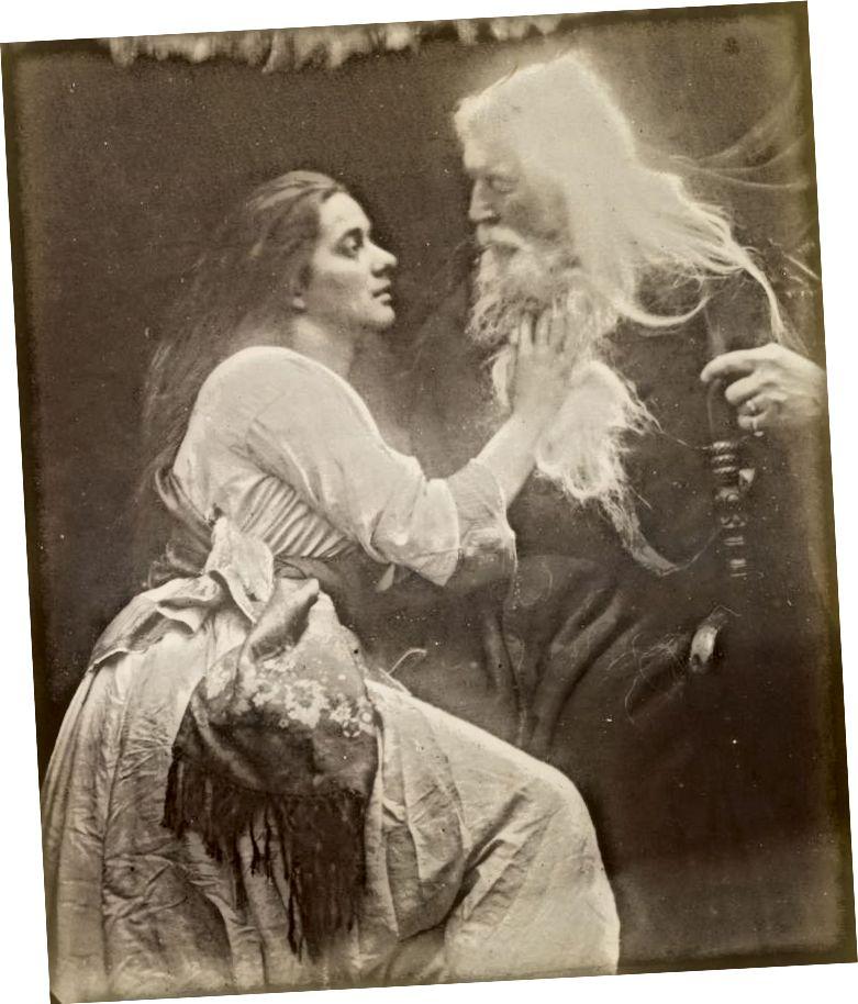 Еще одна артурская виньетка «Вивьен и Мерлин» (1874) с мужем Кэмерон (Фото предоставлено Pinterest)