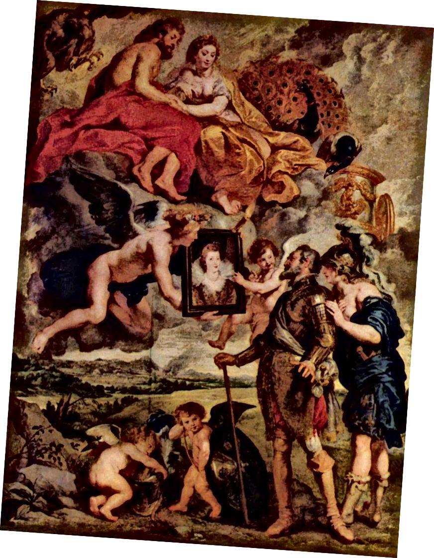 Peter-Paul Rubens, Die Übergabe des Porträts der Königin an Heinrich IV. 1622–1625.