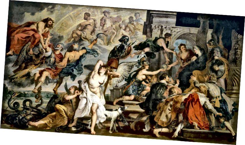 Peter-Paul Rubens, Der Tod Heinrichs IV. Und die Proklamation der Regentschaft, ca. 1622–1625.