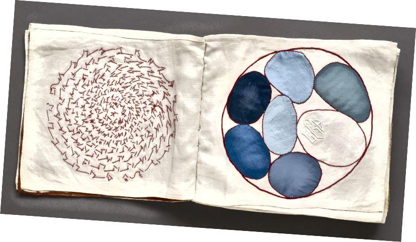 লুই বুর্জোয়া (1911-2010)। Ode à l'Oubli ফ্যাব্রিক সচিত্র বই থেকে 34 এর №4। 2002. আধুনিক আর্ট জাদুঘর, নিউ ইয়র্ক। শিল্পীর উপহার। © 2017 ইস্টন ফাউন্ডেশন / ভ্যাগা, এনওয়াই দ্বারা লাইসেন্সযুক্ত।
