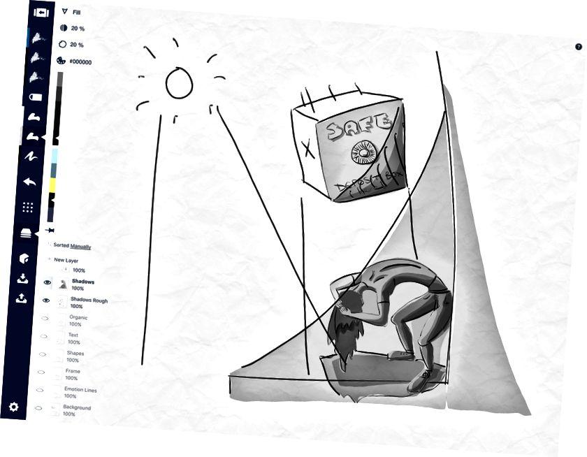 Ձևը վերցնելով: Ստվերներն ու լույսը ձեր նկարը տեղափոխում են երրորդ հարթություն: