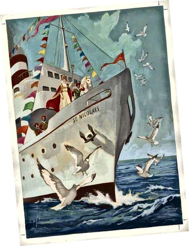 Vintage holländische Kinderbuchillustration, circa 1950er Jahre