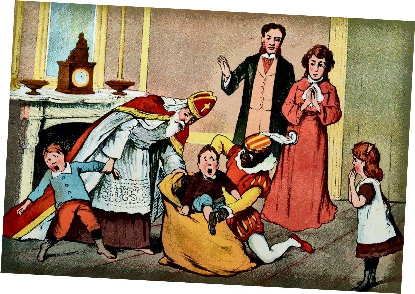 Vintage holländische Kinderbuchillustration, circa Anfang 1900