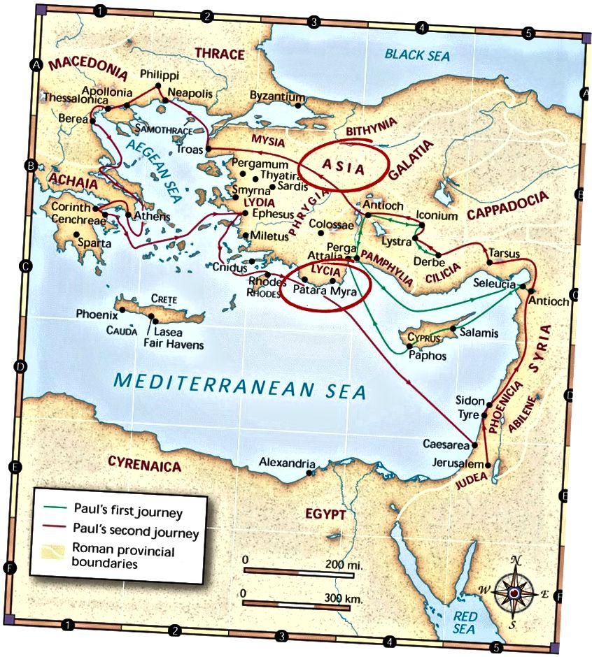Bildnachweis: CEV Maps, Copyright © 1995 American Bible Society