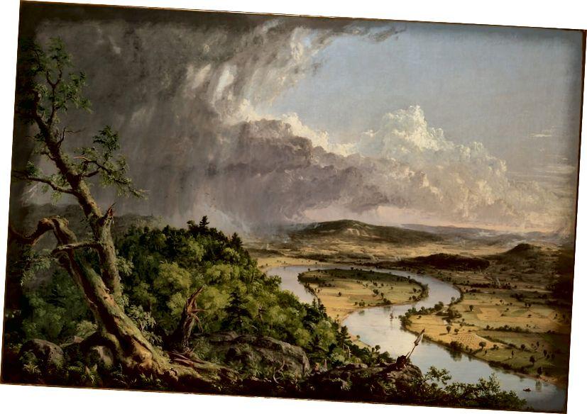 Thomas Cole. Pohled z hory Holyoke, Northampton, Massachusetts, po bouřce - Oxbow, 1836 | © Metropolitní muzeum umění