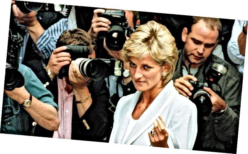 Diana hercegnő felnőtt életének nagy részét az utcán fényképezte. A nyilvános