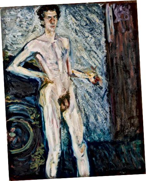 Nacktes Selbstporträt mit Palette, Richard Gerstl (1908) [Quelle]