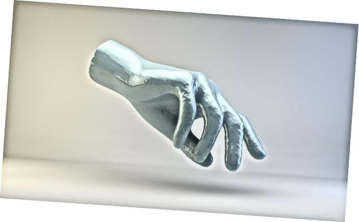 Հայտնի նոր մեդիա նկարչի ձեռքը ereերեմի Բեյլիի կողմից, «Կրիստալ Սաութ» -ի ցուցահանդեսային ցուցահանդեսից