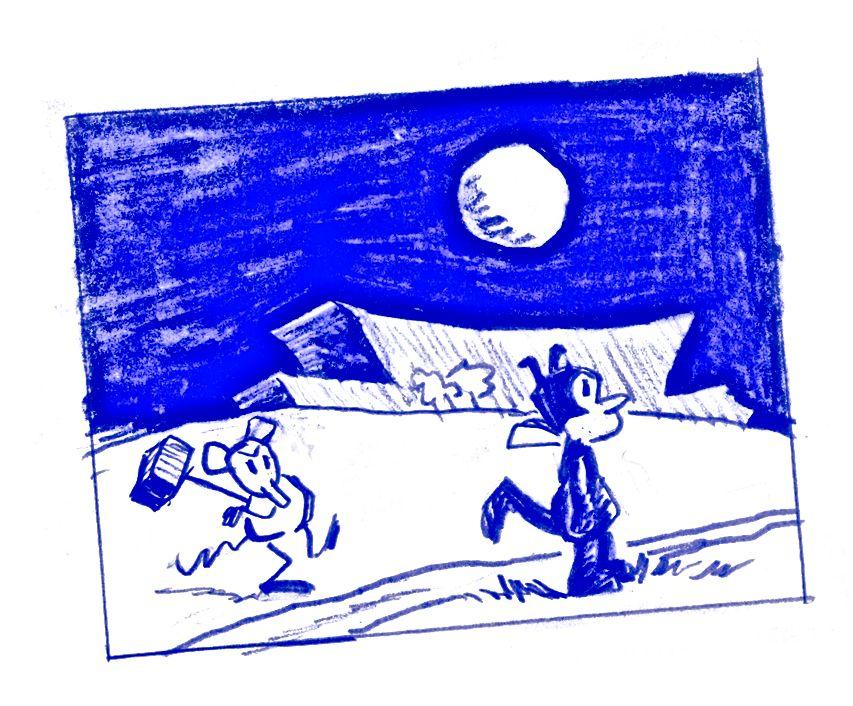 für Jae Bearhat + Rory Frances // Zeichnung von AM nach George Herrimans Krazy Kat