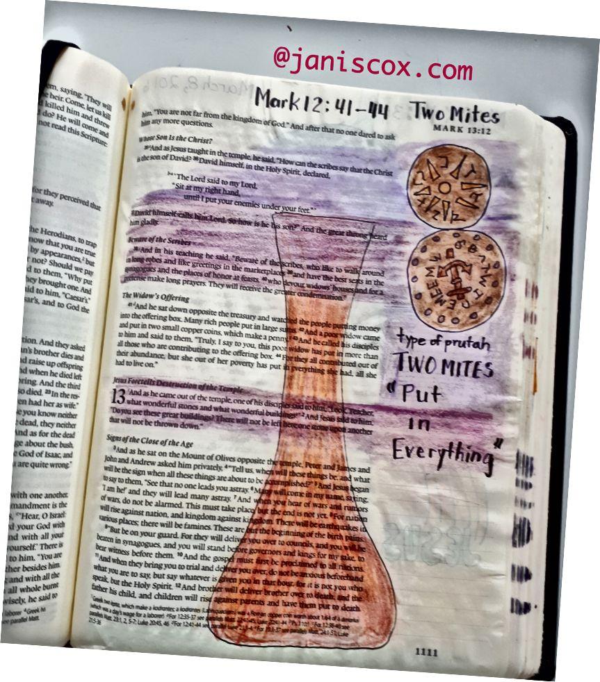 Bible Art od Janis Cox - bezplatné e-mailové lekce.