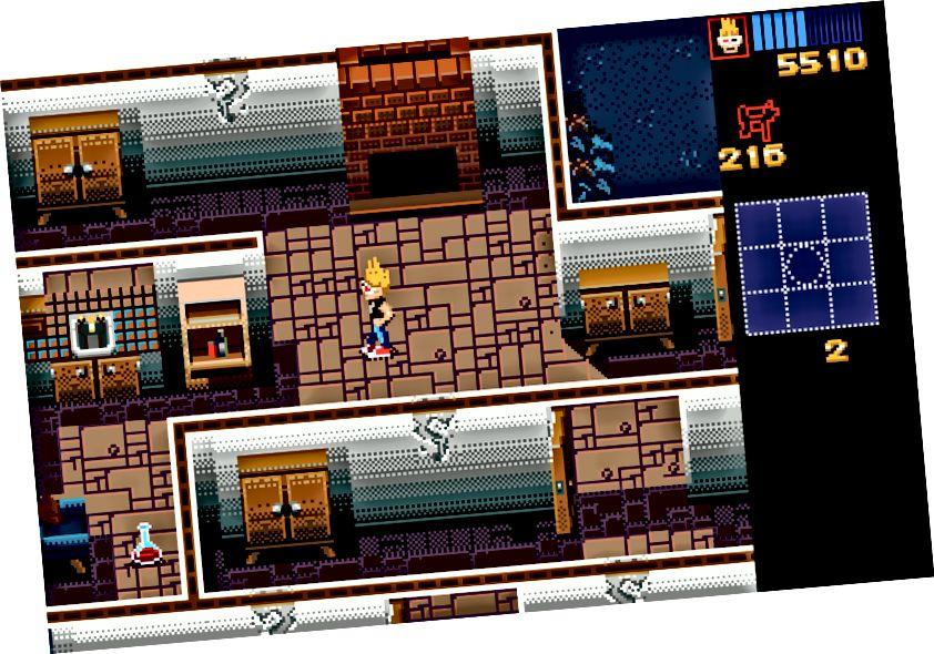 Ultima VII: Qara Qapı, Mənşə Sistemləri, 1992 (solda), Zombies Mənim Qonşularım, LucasArts, 1993 (sağ)