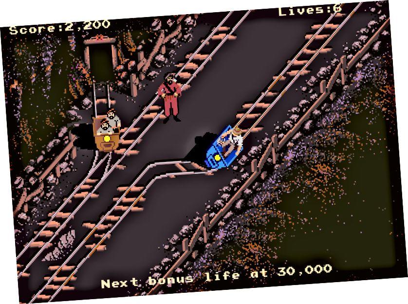 Fars şahzadəsi, Bröderbund, 1989 (solda), İndiana Jones və Doom Məbədi, Atari Oyunları, 1985 (sağ)