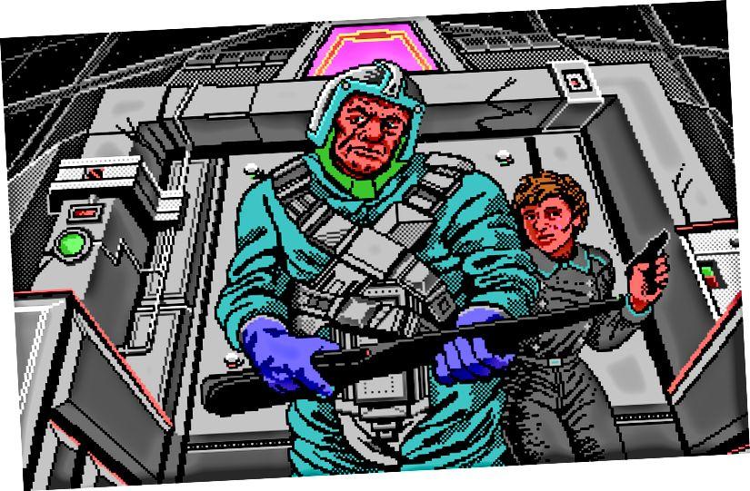 Wolfenstein 3D, id Proqram, 1992 (solda), MechWarrior, Dynamix, 1989 (sağda)
