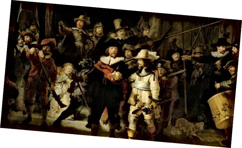 Нощният страж (1642) от Рембранд.