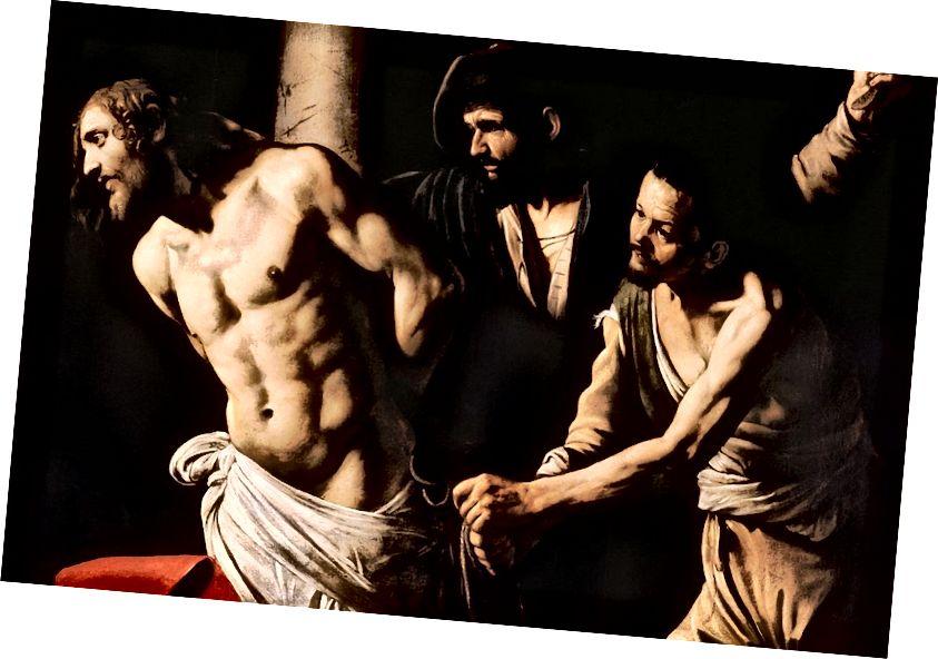 Христос при колоната (1607 г.) от Караваджо.
