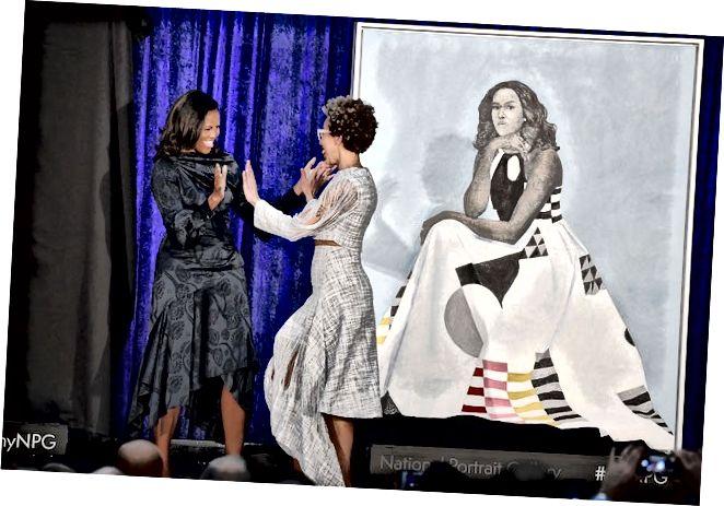 Amy Sherald und Michelle Obama