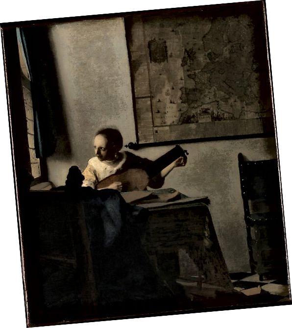 Жена с лютня от Йоханес Вермеер, Метрополитен музей на изкуството, любезно използване