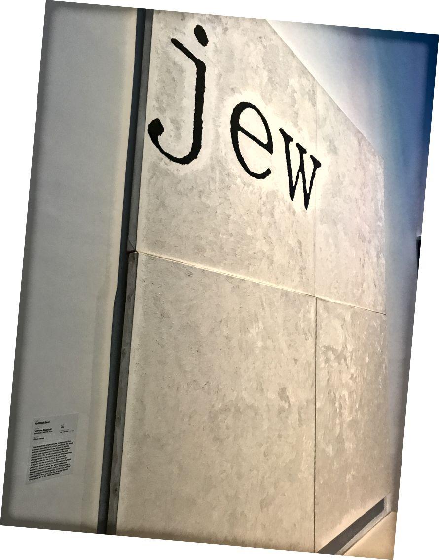 Bez názvu (žid) William Anastasi. 1987. Židovské muzeum.