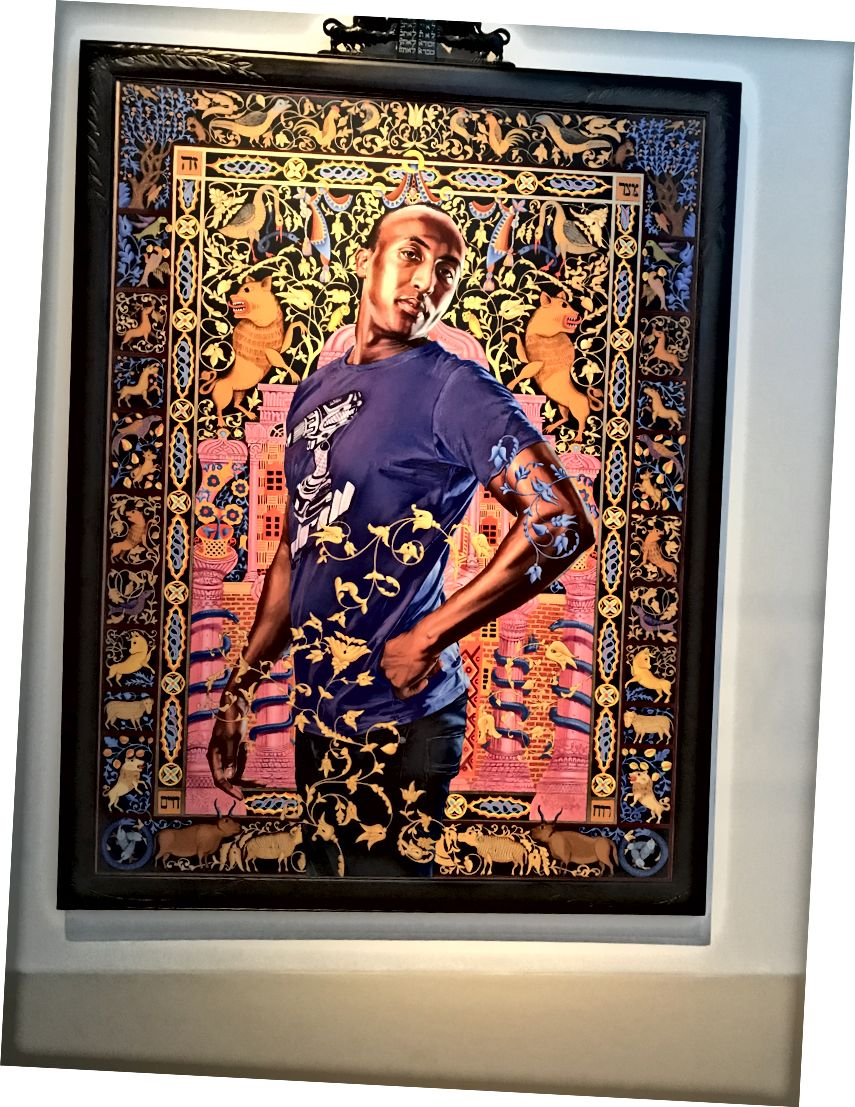 عليوس اسحق من مسلسل The World Stage: Israel. Kehinde Wiley. 2011.