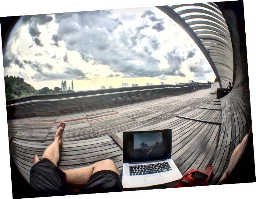 ... a užívat si parky v Singapuru.