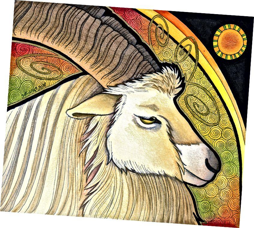 Bilberry Goat jako Totem od Ravenari