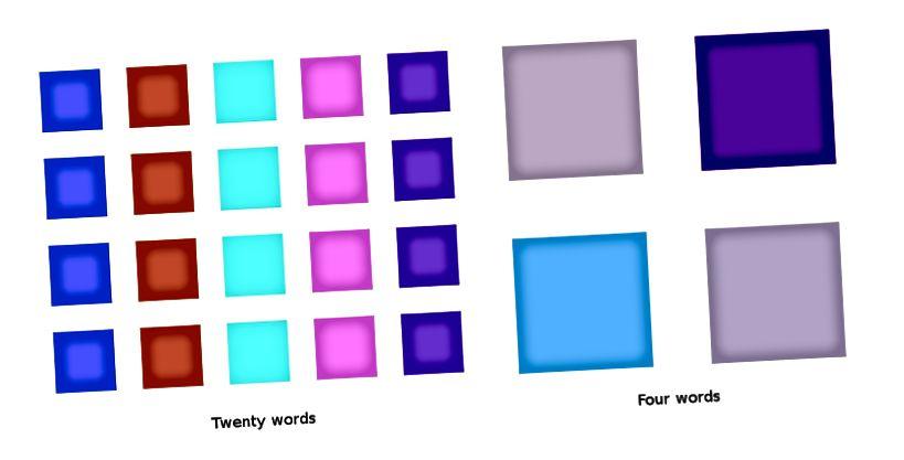 Някои малки примери за думи