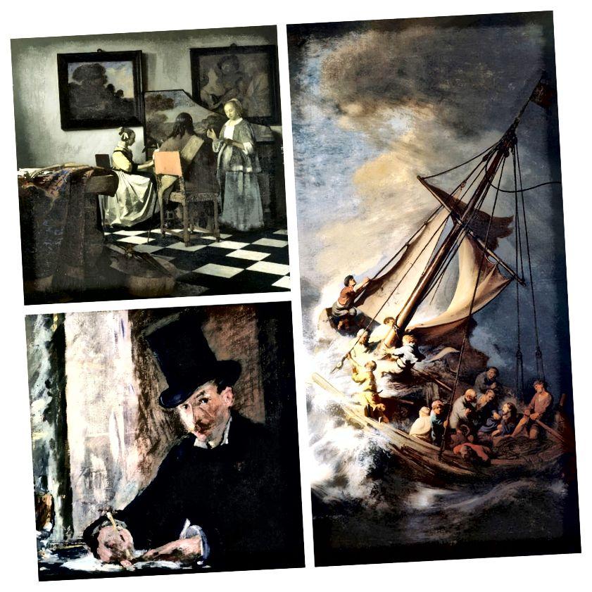 Hilang: Konser oleh Vermeer, Chez Tortoni oleh Manet, dan Badai di Laut Galilea oleh Rembrandt (terkenal sebagai satu-satunya pemandangan laut ...)