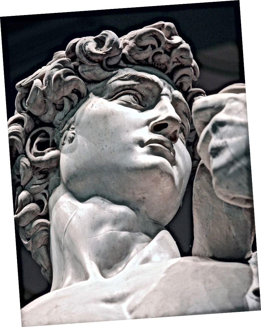 Michaelangelos David verkörpert diese Männlichkeit. Bildnachweis