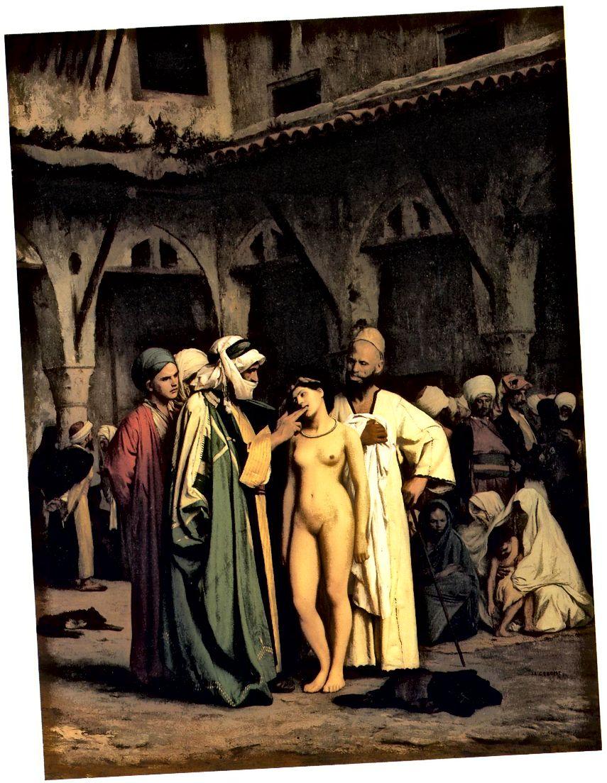 Jean-Léon Gérôme, Der Sklavenmarkt, 1866