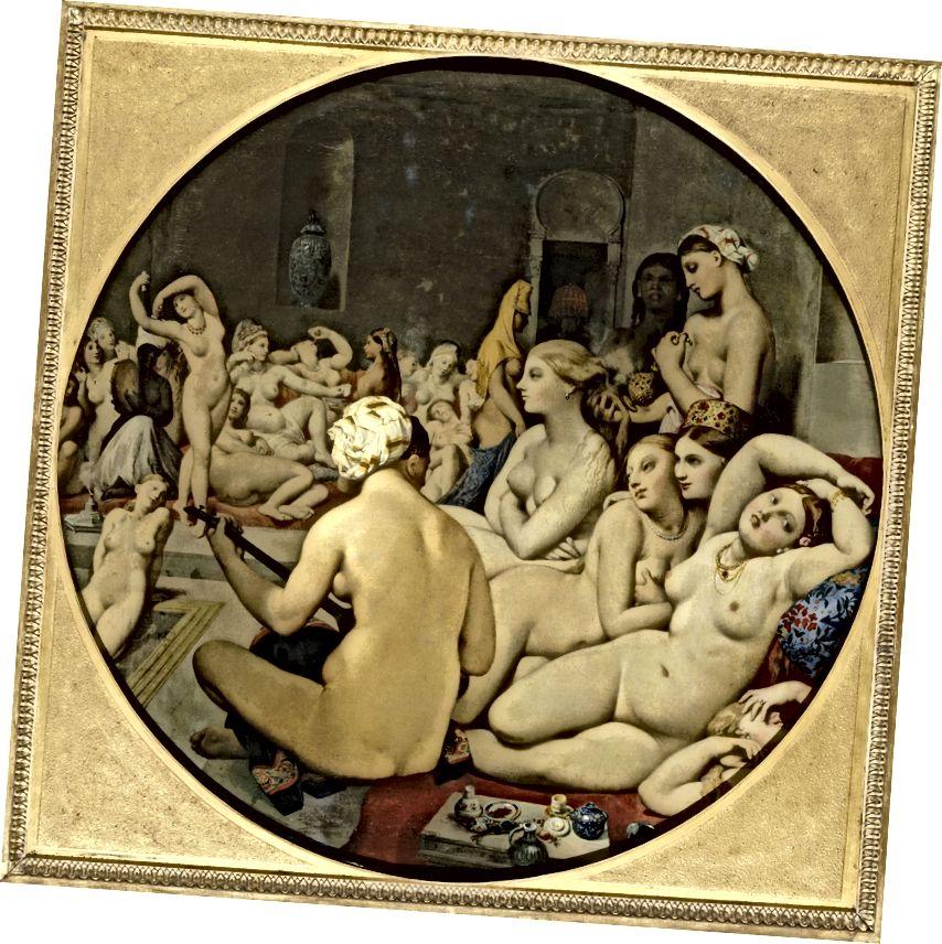 Jean Auguste Dominique Ingres (Französisch, The Turkish Bath, 1862) Öl auf Leinwand
