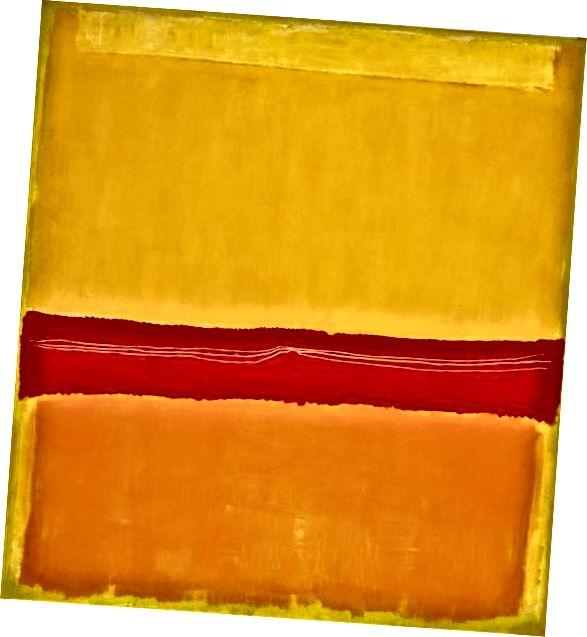 '№5 / №22' от Марк Ротко, 1949-50. Снимка чрез Музей на съвременното изкуство / WikiArt