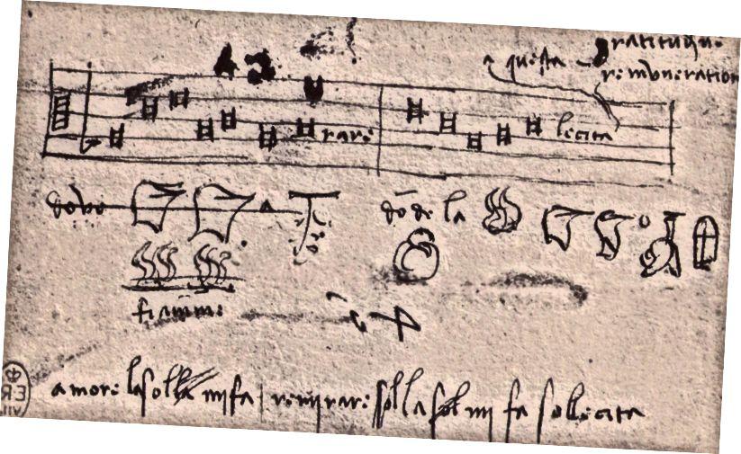 Eine Melodie aus Leonardo DaVincis Notizbüchern