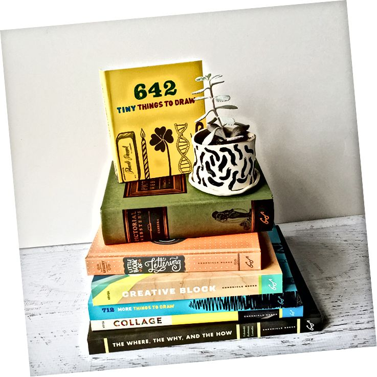 Några av böckerna som Bridget har redigerat