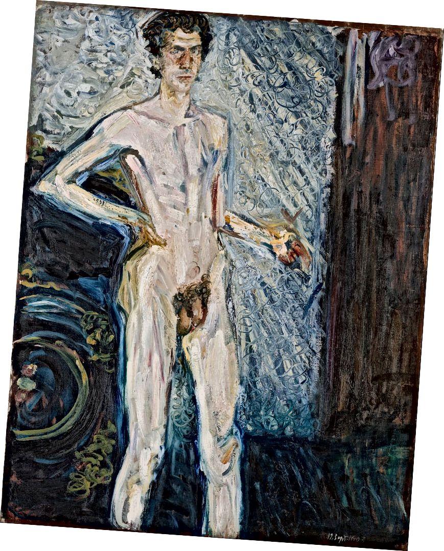 Richard Gerstl, Nude Self դիմանկար պալիտրա հետ (1908) | Google Art Project- ի / WikiCommons- ի միջոցով