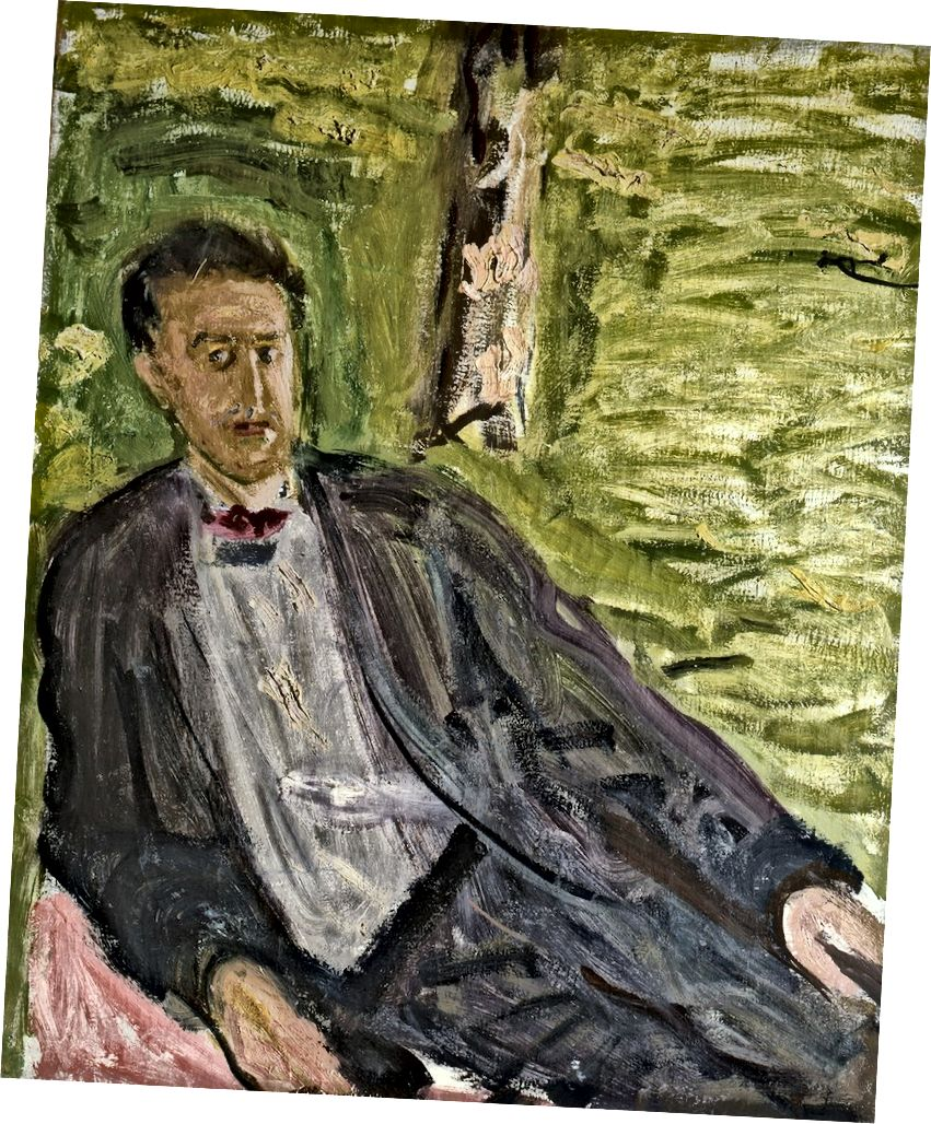 Ռիչարդ Գերսթլ (1883–1908), տղամարդու դիմանկարը (կանաչ ֆոն), ամառ 1908 | Մասնավոր հավաքածու