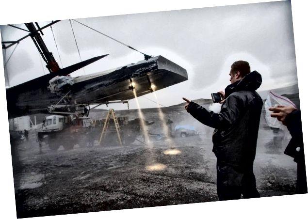 كريستوفر نولان أثناء تصوير فيلم Interstellar في آيسلندا