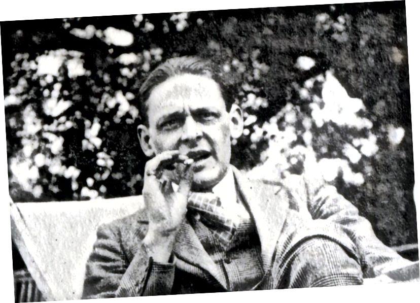 TS Eliot през 1923 г., източник