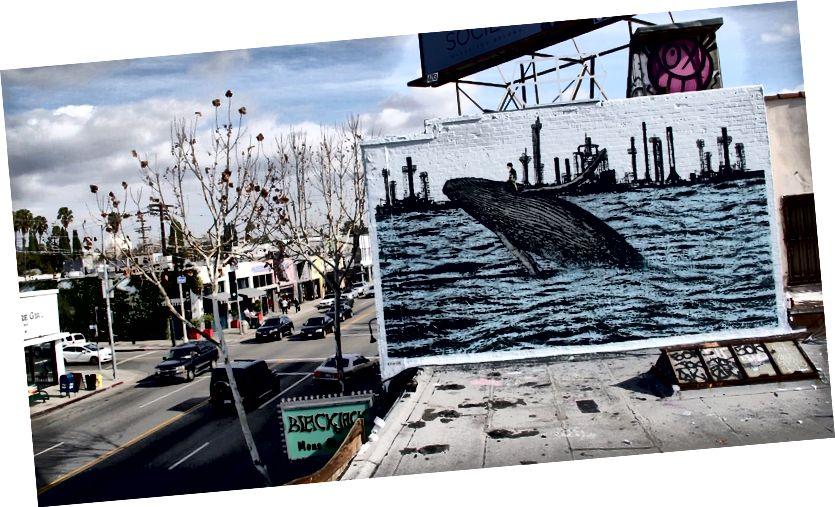 Роспись китов на Авеню Мелроуз