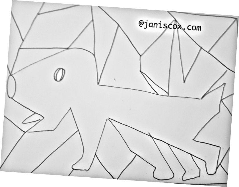 مخطط الكلب الذي أراني الله إياه. يستخدم قلم ميكرون رقم 8.